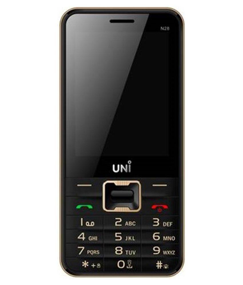 d8ce448f708 Uni N28 (Black) Mobile Phones Online at Low Prices