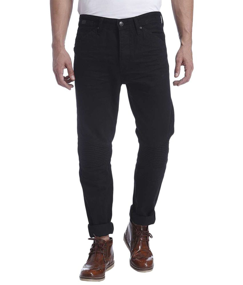 Jack & Jones Black Cotton Slim Fit Jeans