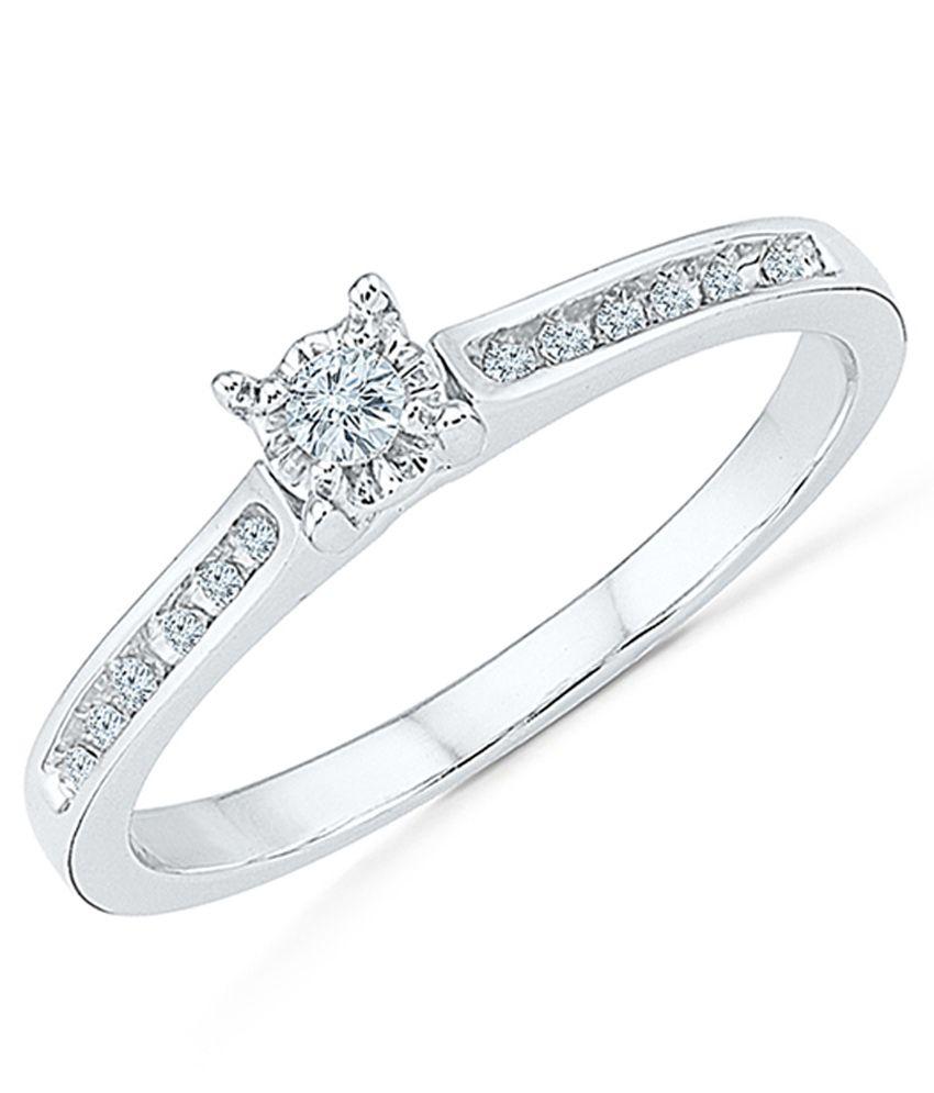 Radiant Bay 18Kt White Gold Ring