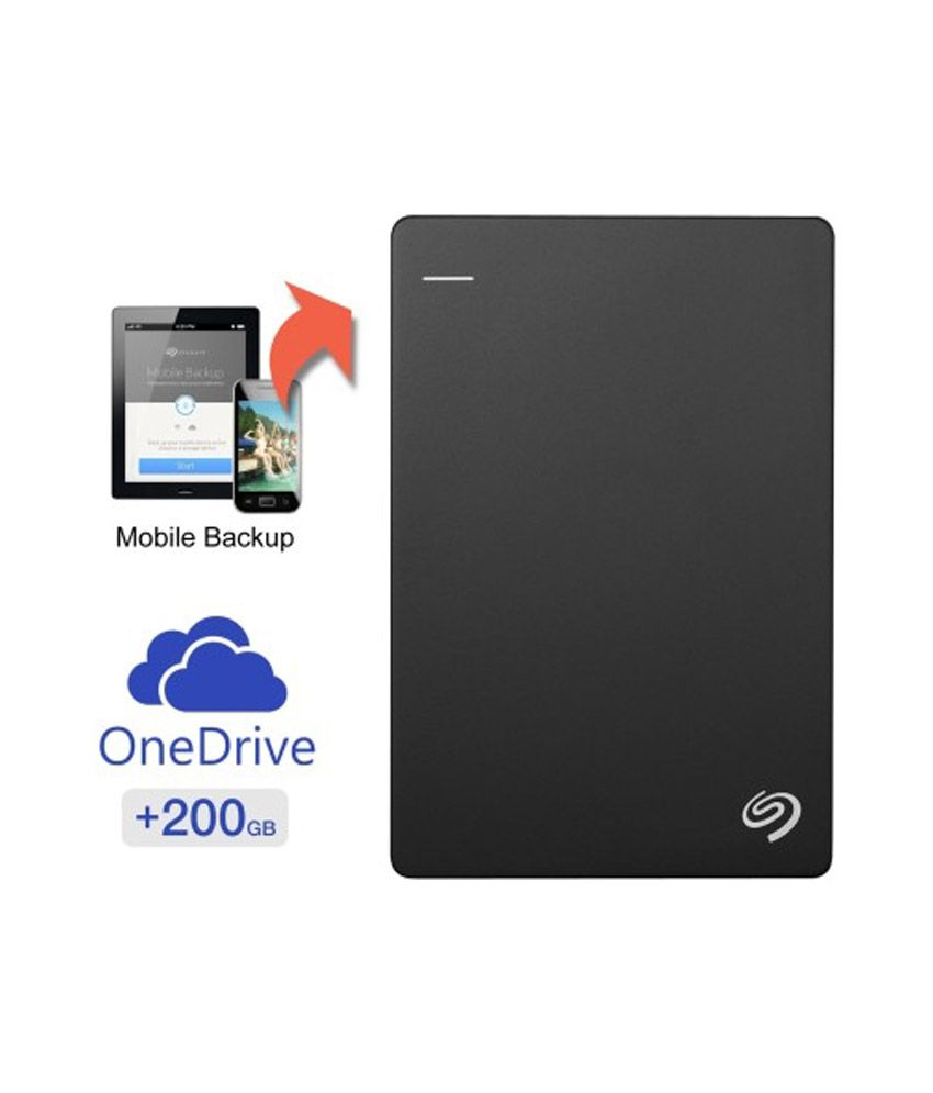 Seagate Backup Plus Desk 3 TB Hard Disk with 200GB of Cloud Storage & Mobile Device Backup (Black)