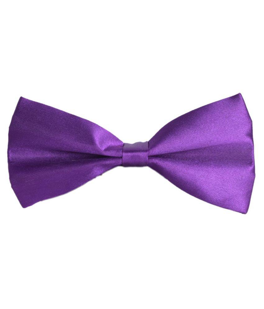 Modishera Purple Micro Fiber Plain Bow Tie