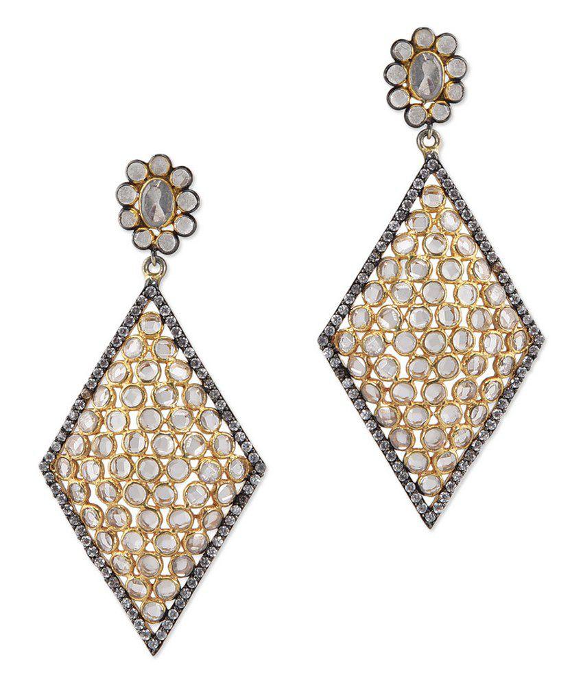 Zerokaata 92.5 Sterling Silver Traditional Drop Earrings