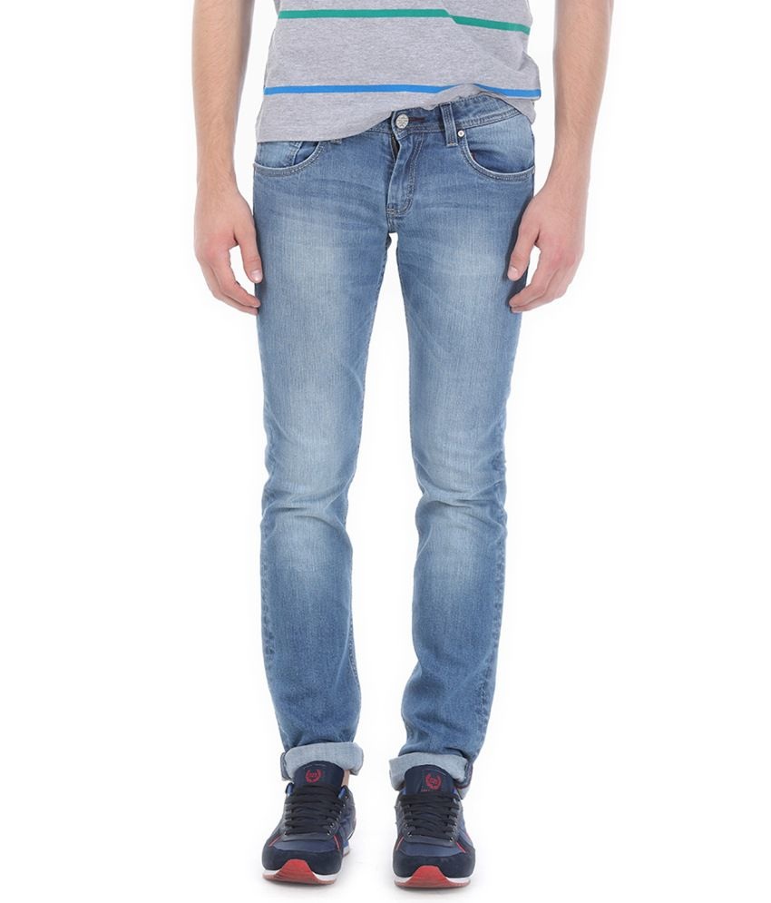 Basics Blue Blended Cotton Jeans
