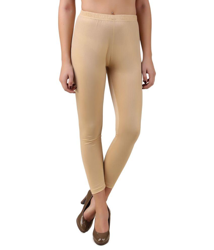 Flur Beige Polyester Leggings