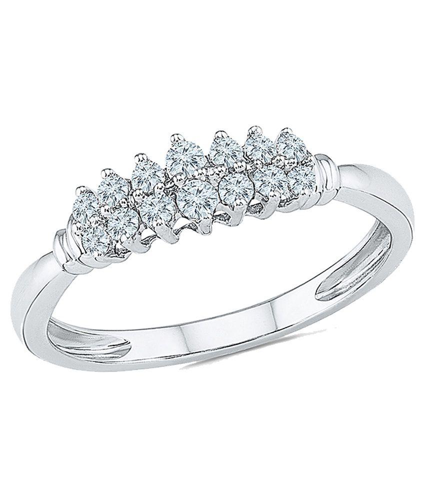Radiant Bay 18Kt White Gold Wedding & Engagement Designer Diamond Ring