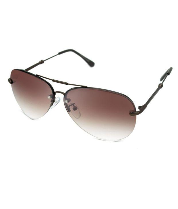 c4aa1f2b4245 Macv Eyewear Brown Aviator Sunglasses - Buy Macv Eyewear Brown Aviator Sunglasses  Online at Low Price - Snapdeal