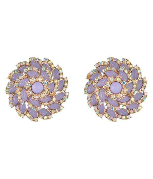 Sparkle Street Purple Floral Earrings