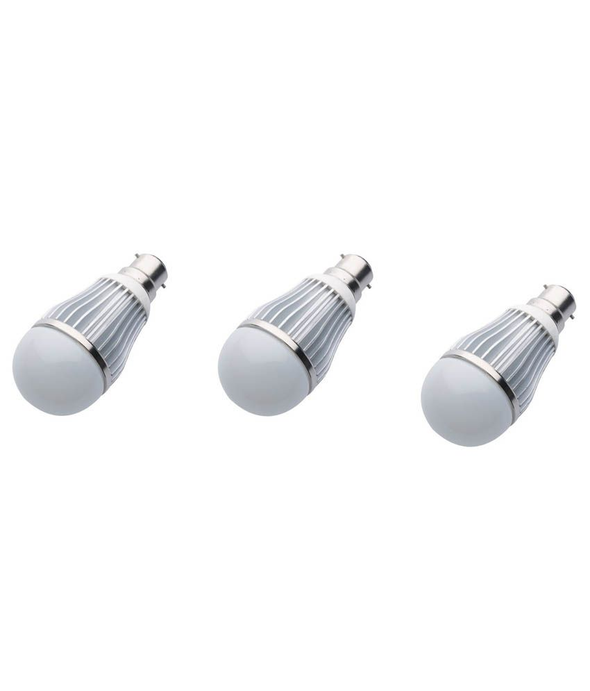 Gk-10w-White-Led-Bulb-Set-Of-3