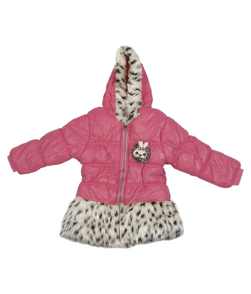 Addyvero PeachPuff Faux Satin Full Sleeves Jacket with Hood