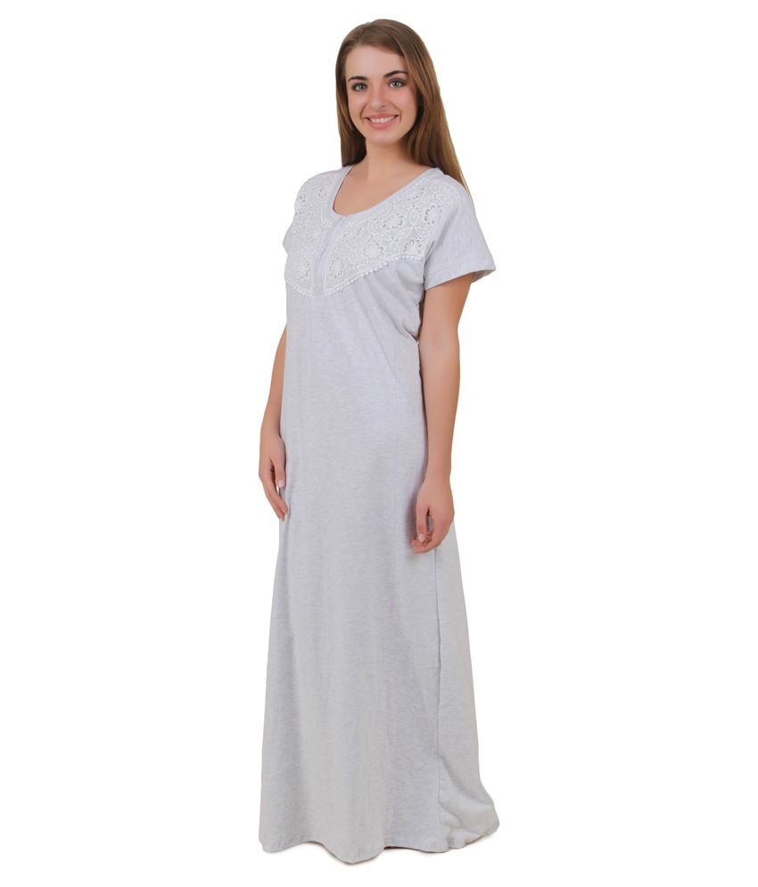15d1415ed4 Buy Masha White Viscose Nighty Online at Best Prices in India - Snapdeal