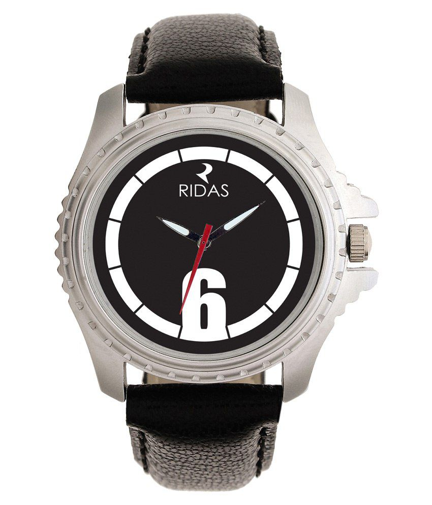 Ridas Black Casual Leather Men Watch