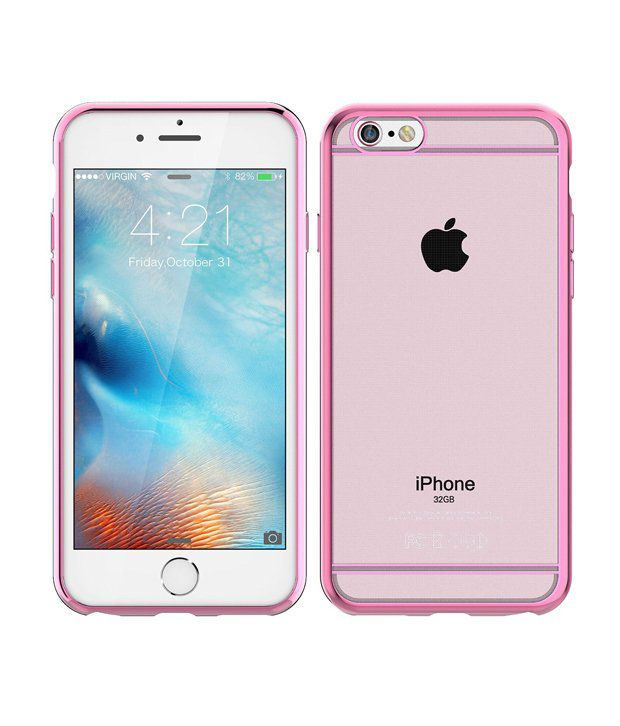 new style 13556 b6f9c E LV Back Cover Cases For Apple Iphone 6 And 6S - Pink - Plain Back ...