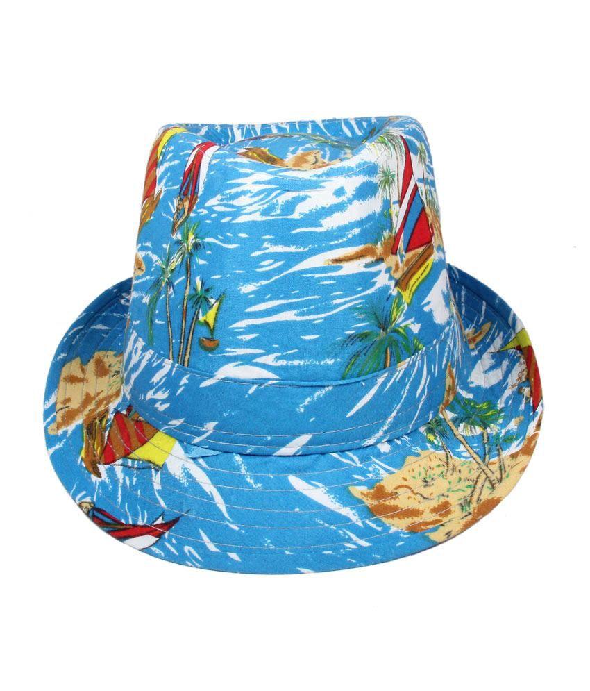 Fabseasons Multicolour Cotton Fedora Hat