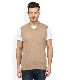 Woodland Beige V-Neck Sweater