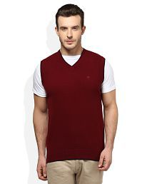 Woodland Maroon V-Neck Sweater