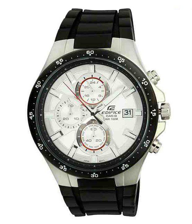 Casio EX062 Elegant White Edifice Chrono Watch
