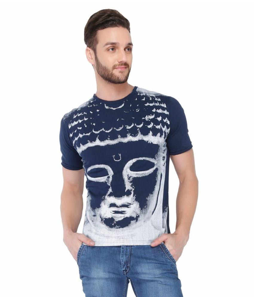 Dbox Navy Cotton T-Shirt