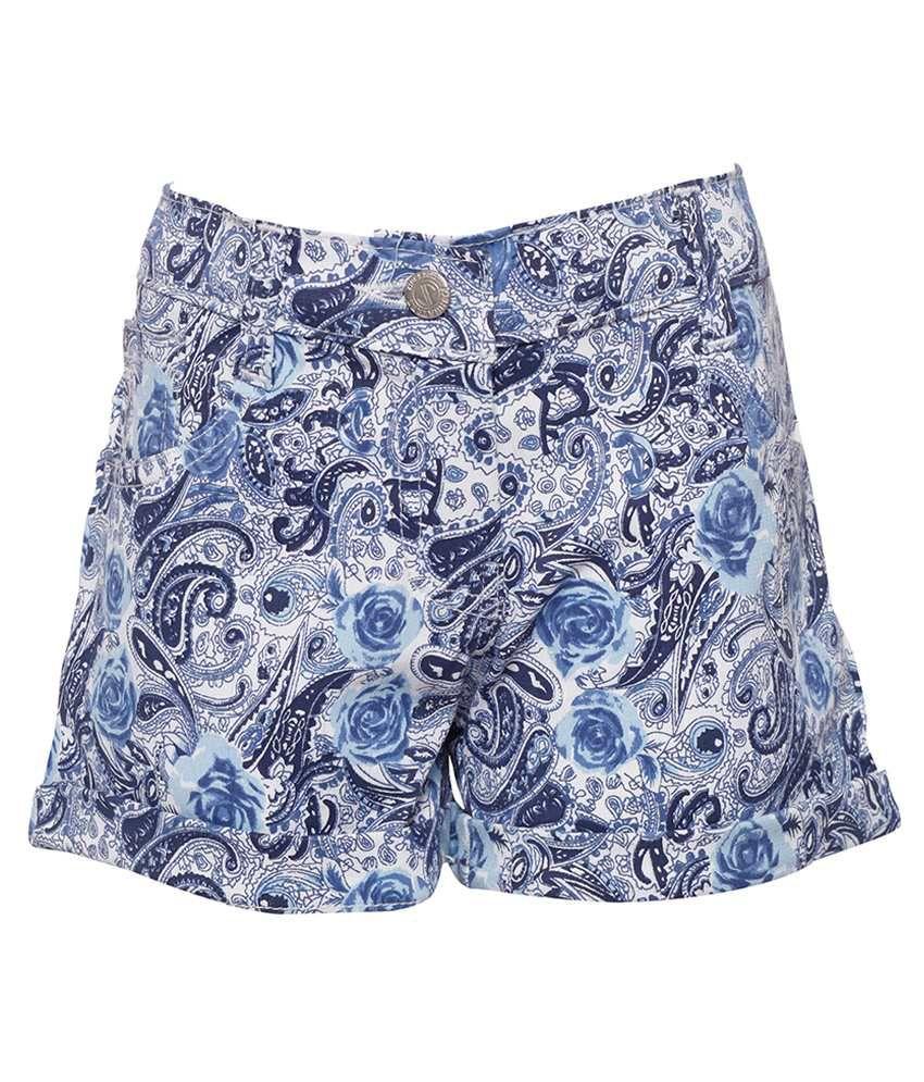 Joshua Tree Blue Cotton Shorts