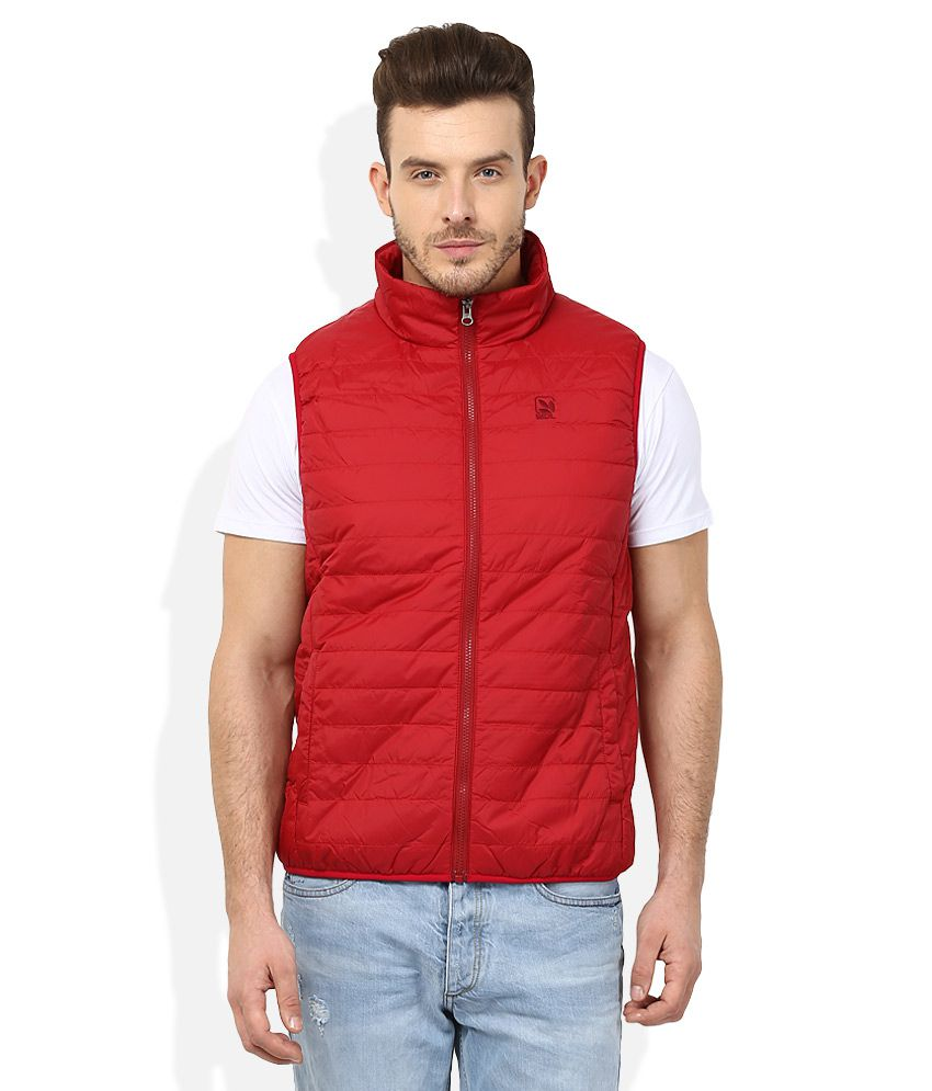 Woodland Red Casual Jacket