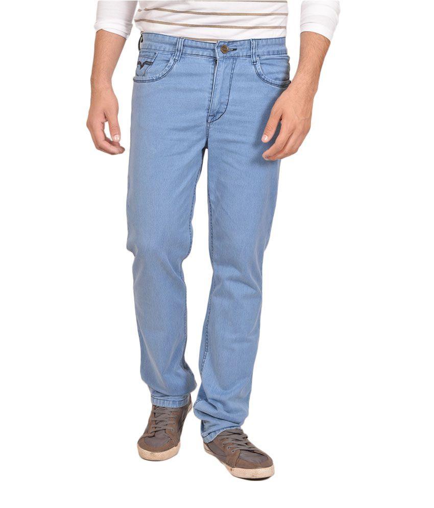 Allen Martin Blue Regular Fit Jeans