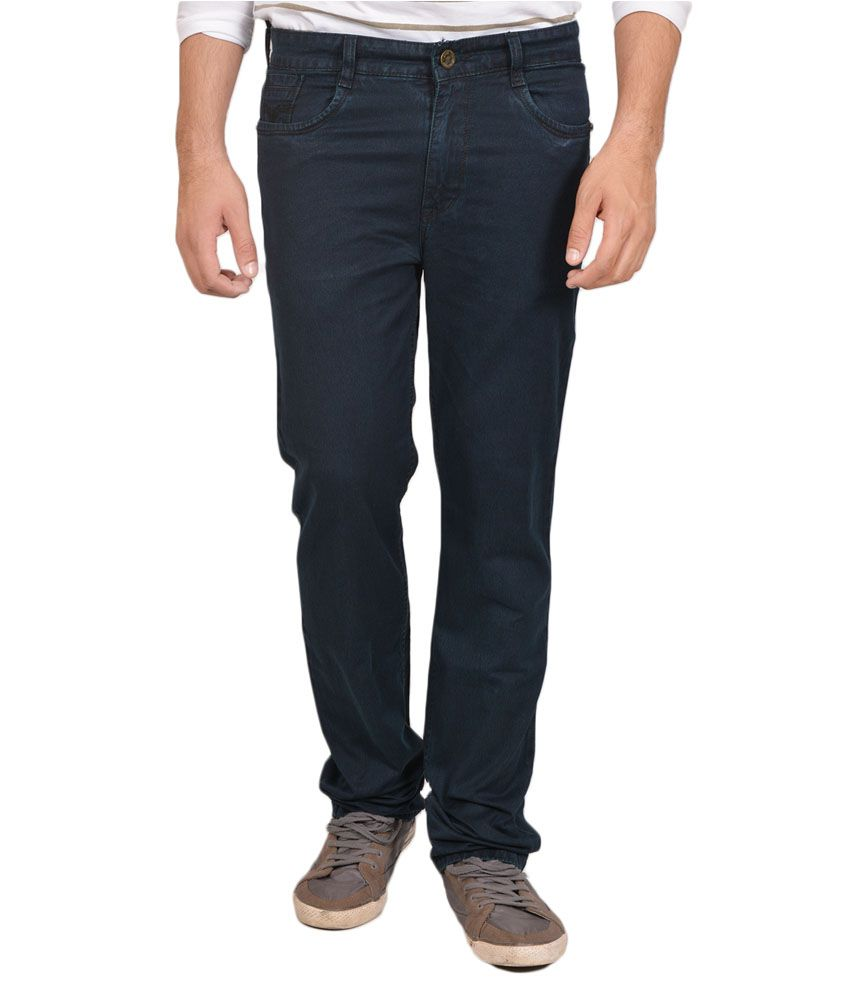 Allen Martin Blue Regular Fit Jeans