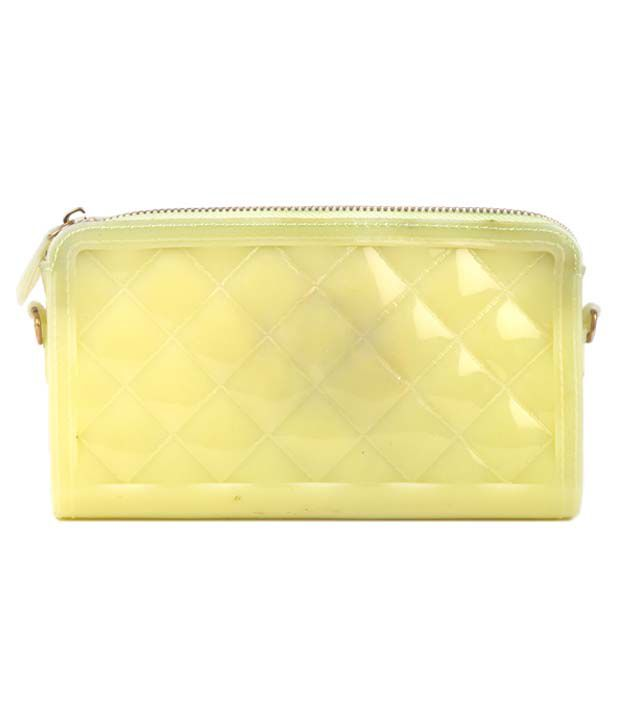 Dazzle Yellow Wallet For Women