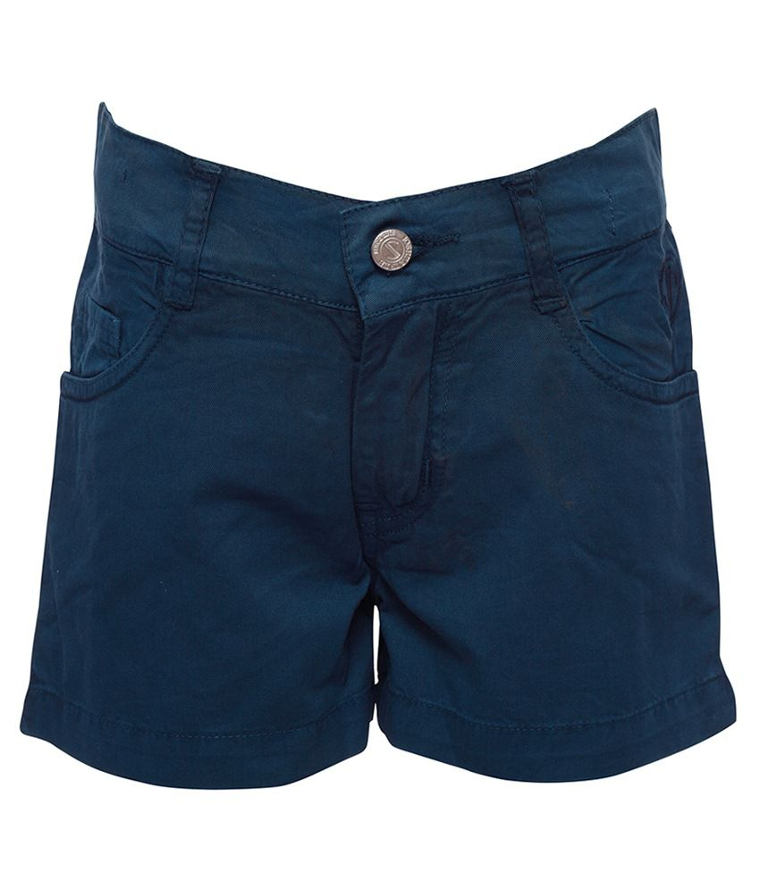 Joshua Tree Blue Cotton Shorts