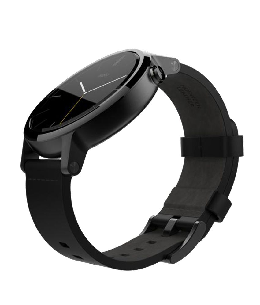 8564e1549 Motorola Black Smart Watch For Moto 360 - Wearable   Smartwatches ...