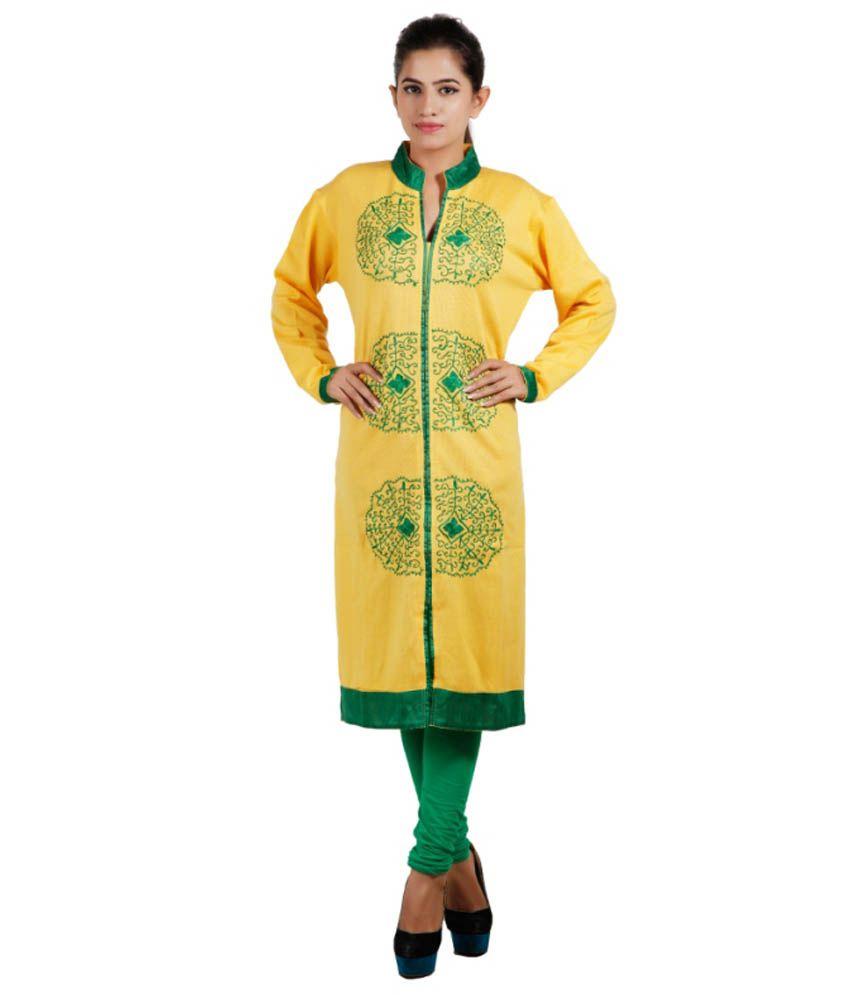 Pee Fashion Yellow Woollen