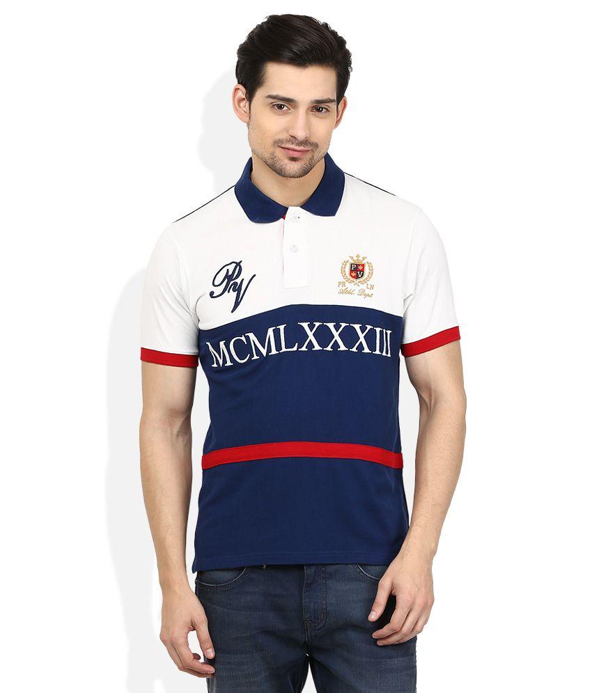 Proline Multicoloured Printed Polo T Shirt