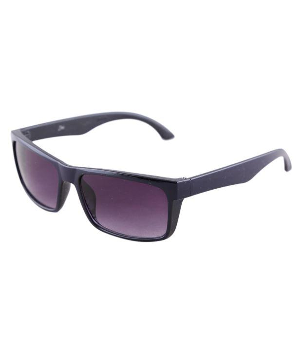 Zinc Purple Rectangle Sunglasses