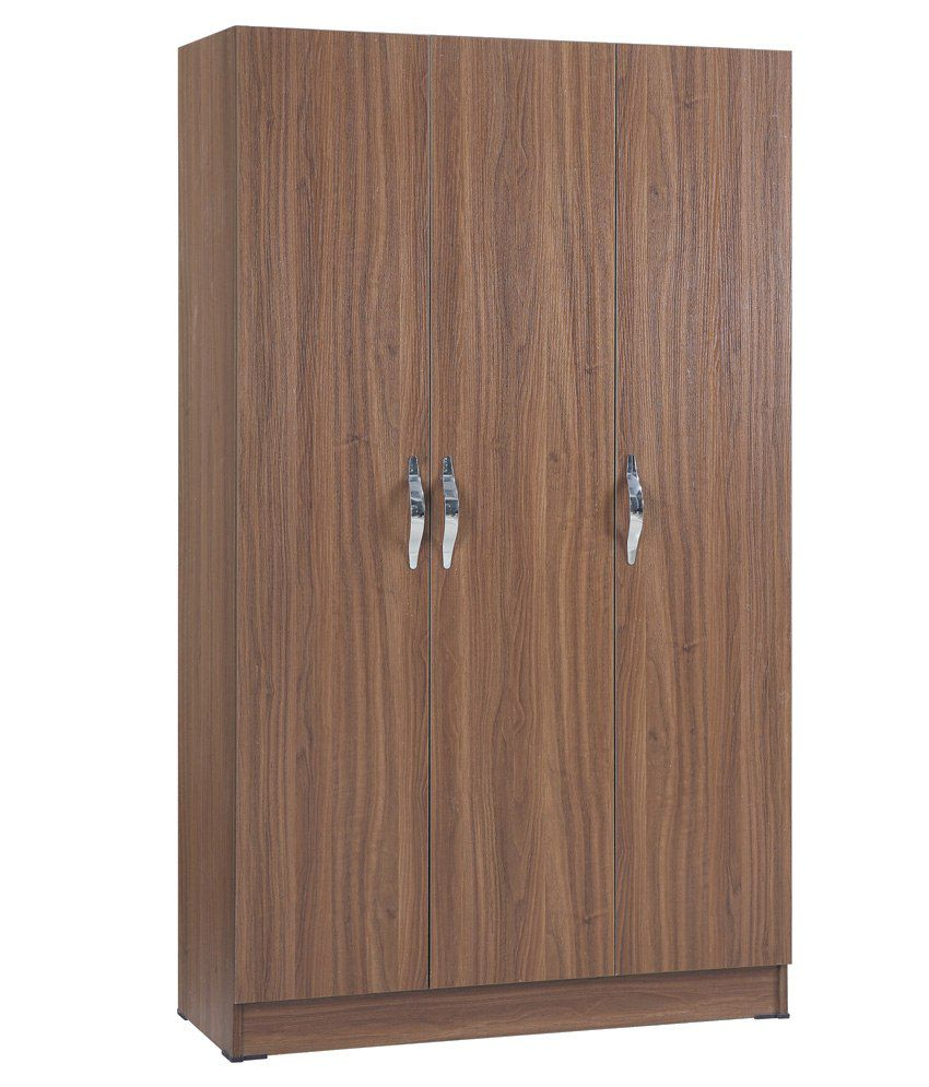 3 Door Wardrobe In Natural Finish