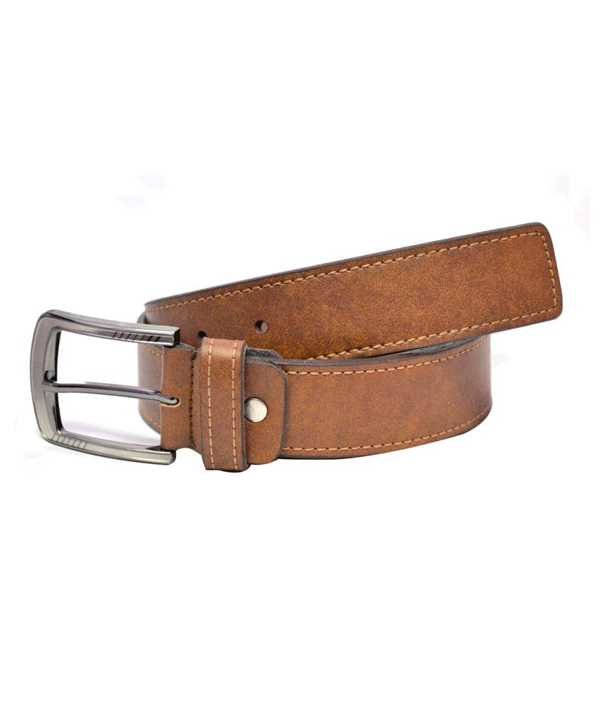 Aer Leather Tan Casual Belt For Men
