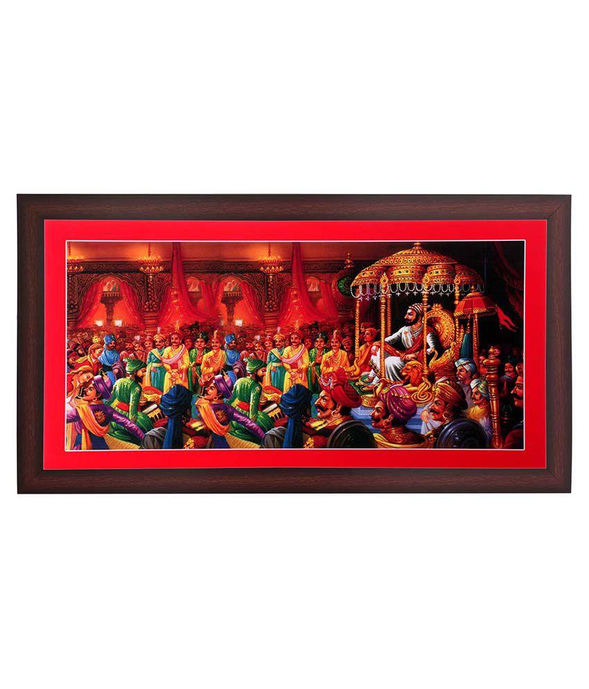 Bm Traders Rajyabhishek Of Shivaji Maharaj Wooden Photo Frame Buy