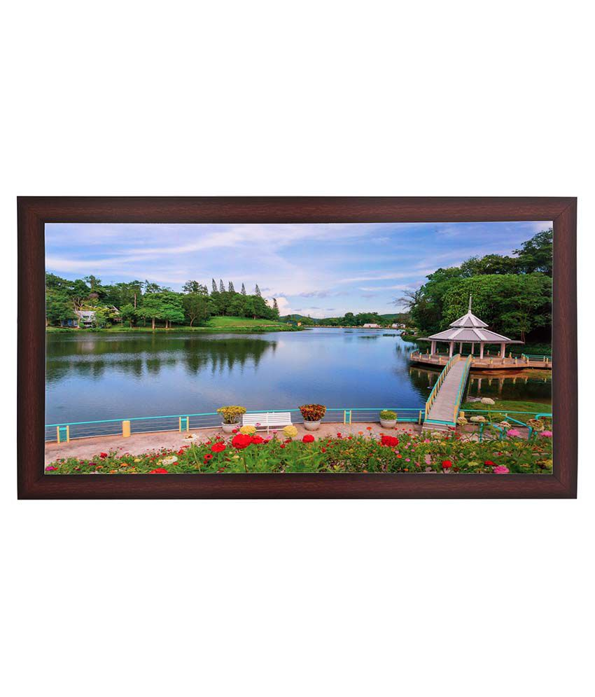 BM Traders Scenery View Wooden Photo Frame