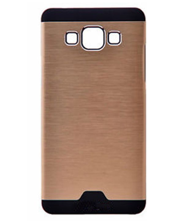new arrival 4f670 a7078 Motomo Aluminium Brushed Back Cover For Samsung Galaxy J7 SM-J700F - Golden