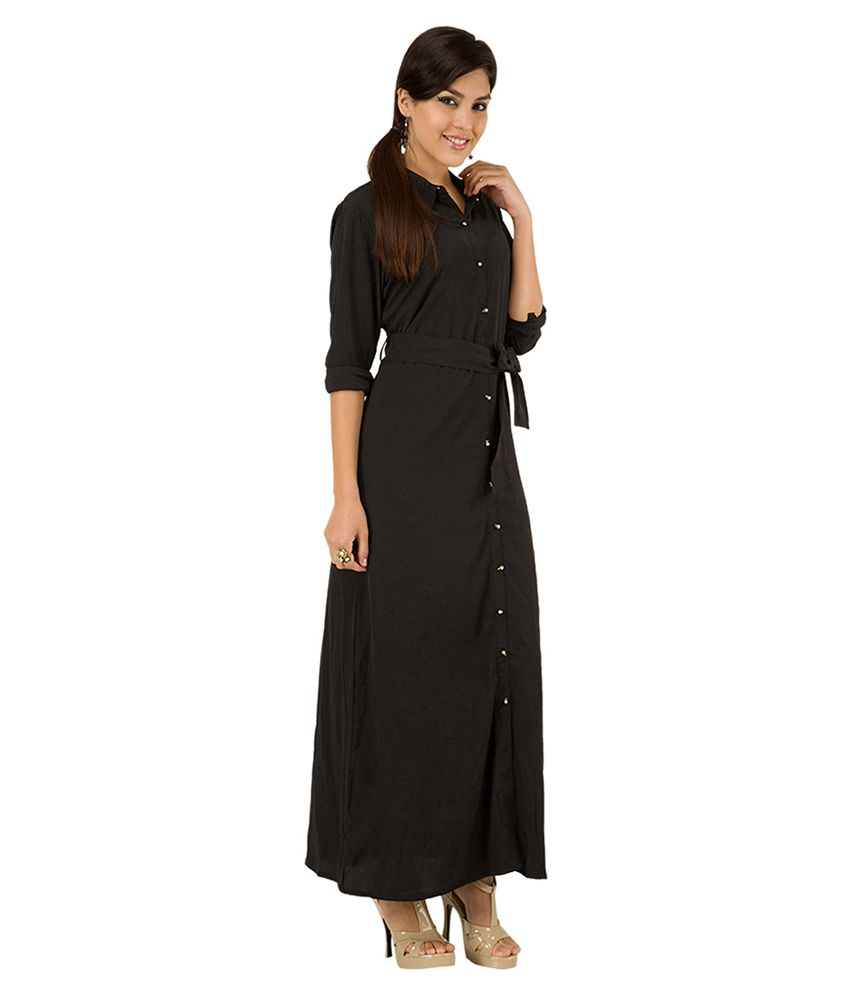 ed2d126d6 Tokyo Talkies Black Maxi Dress - Buy Tokyo Talkies Black Maxi Dress ...