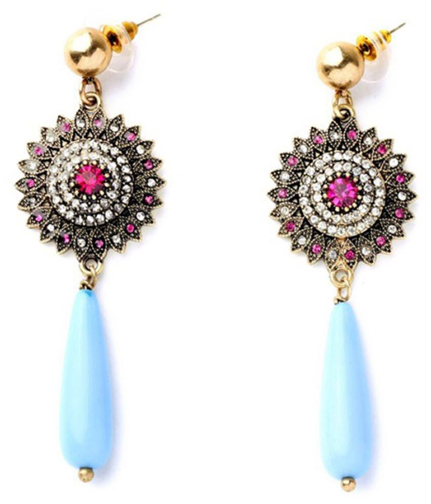 Kookoo Fashion Multicolour Alloy Hanging Earrings