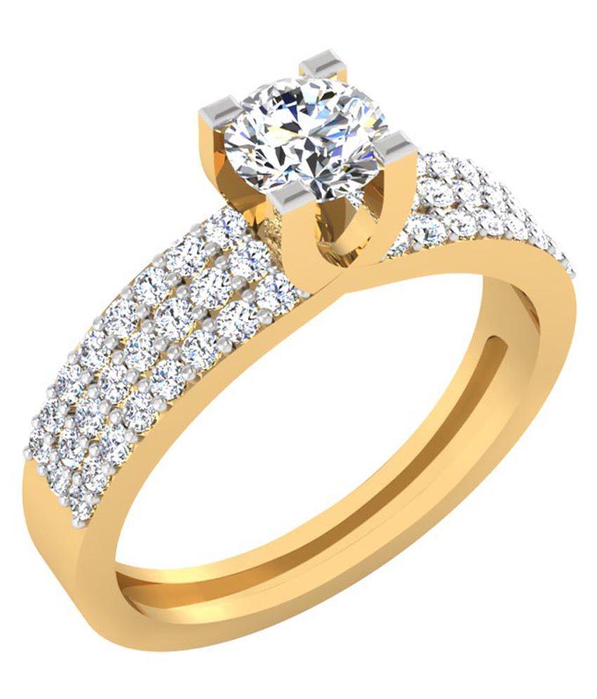 Iskiuski 14kt Gold Diamond Ring