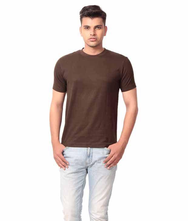 Jai Balaji Brown Cotton T-Shirts