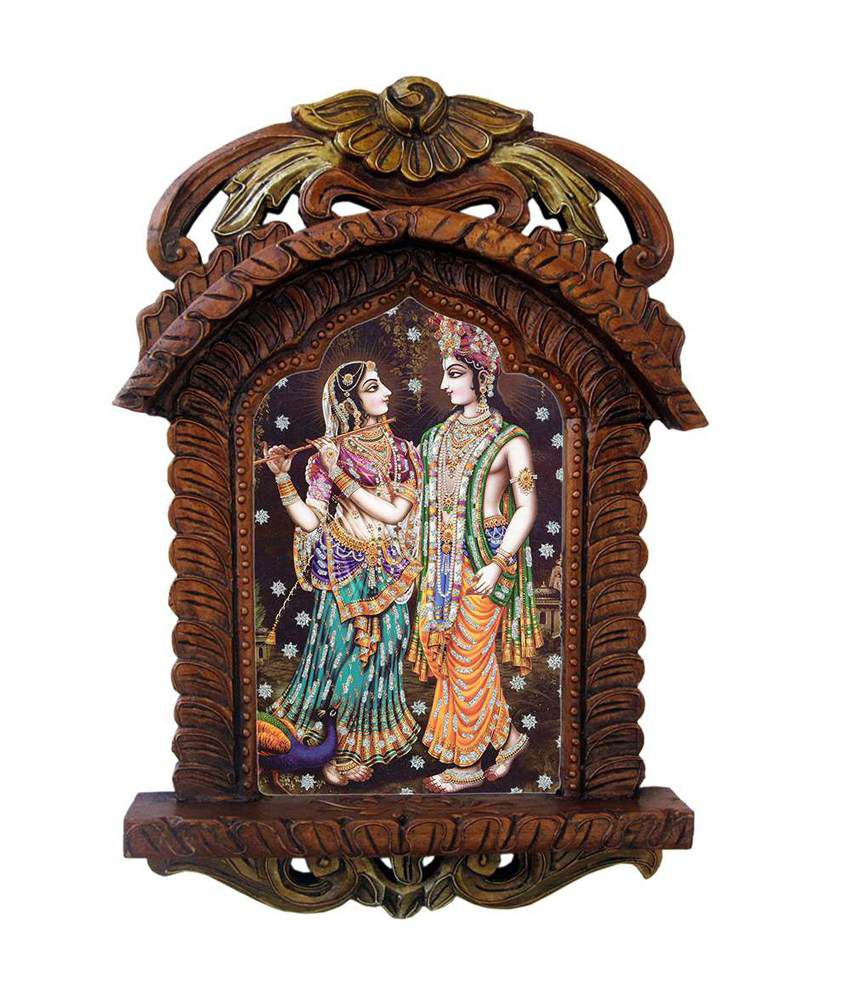 Kiran Udyog Brown Wooden Jharokha Religious Painting