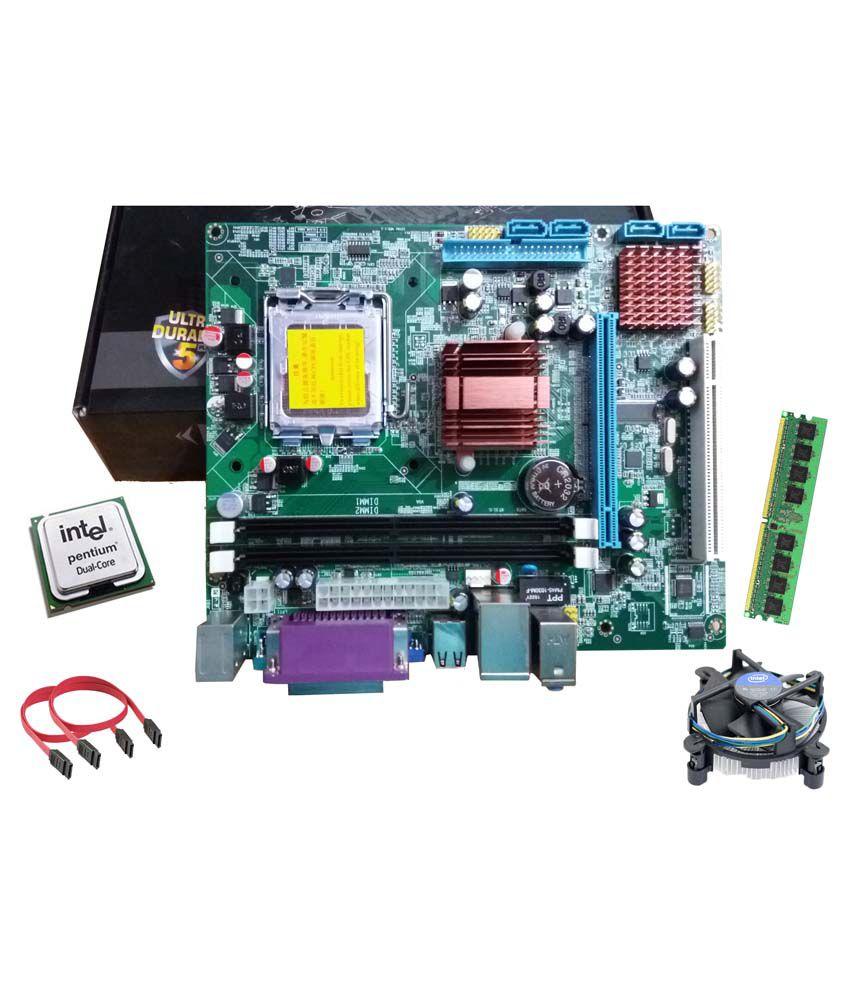 Maxsonic Motherboard Kit, Dual Core, 1GB Grid (Hi-Speed) DDR2 RAM,Intel Fan