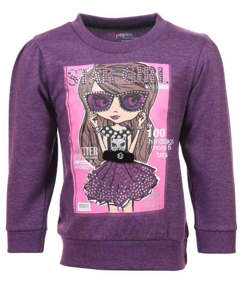 Pepito Purple Sweatshirt