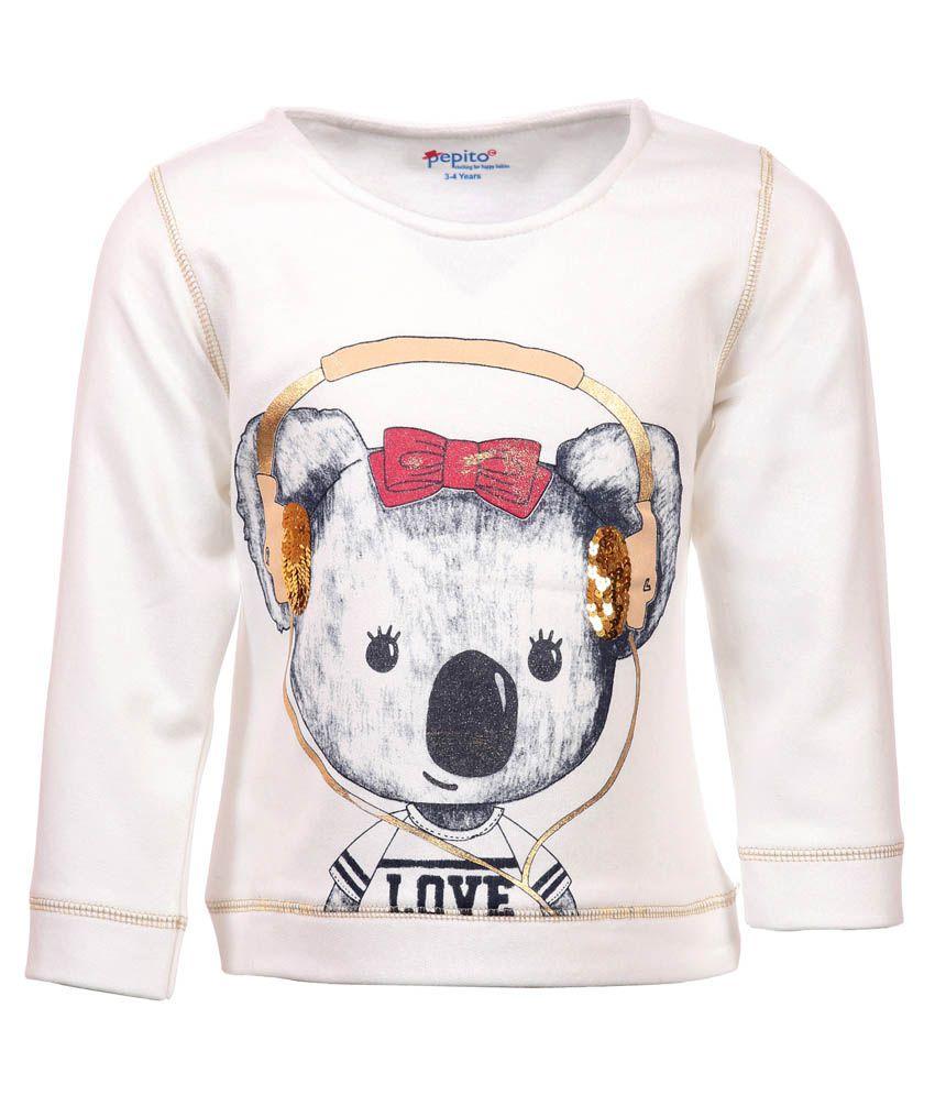 Pepito White Sweatshirt