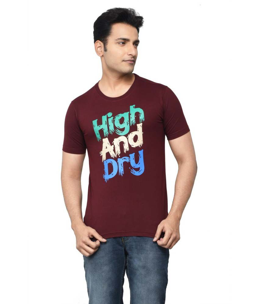 Regnum Maroon Cotton T-shirt