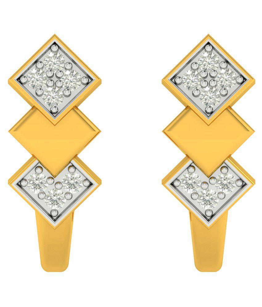 Charu Jewels Diamond Huggie Earrings