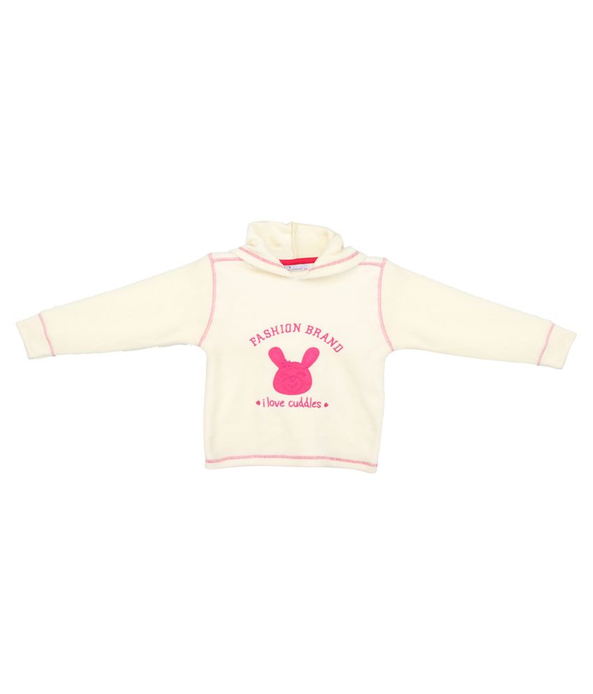 Eimoie White Jacket For Girls