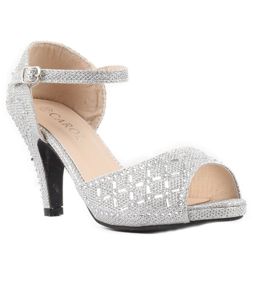 Heaven Deal Silver Stiletto Heels