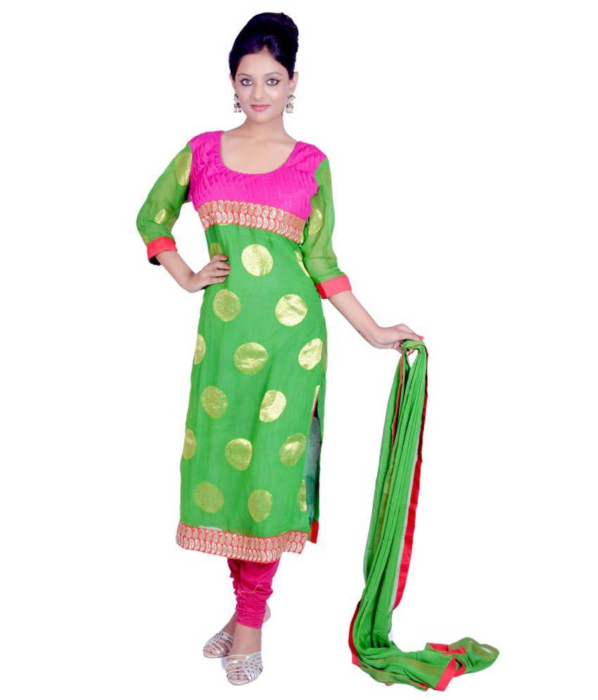Tehzeeb Green Net Stitched Suit