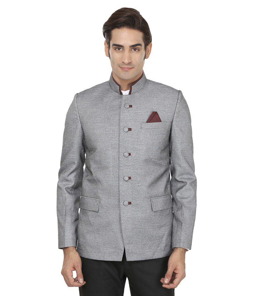 Wintage Grey Linen Blazer